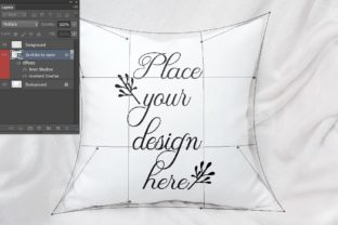 Print on Demand: Sublimation Pillow Cushion Mockup Graphic Product Mockups By Leo Flo Mockups 4