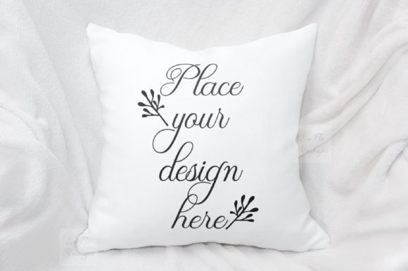 Print on Demand: Sublimation Pillow Cushion Mockup Graphic Product Mockups By Leo Flo Mockups - Image 1