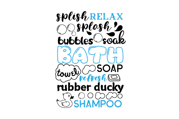 Subway Art For Bathroom Svg Cut File By Creative Fabrica Crafts