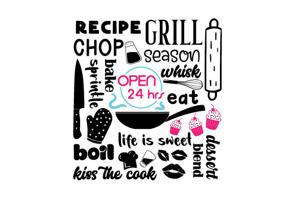 Download Free Subway Art For Kitchen Svg Cut File By Creative Fabrica Crafts for Cricut Explore, Silhouette and other cutting machines.