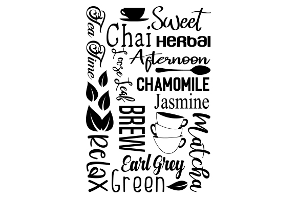 Download Free Subway Art For Tea Svg Cut File By Creative Fabrica Crafts for Cricut Explore, Silhouette and other cutting machines.