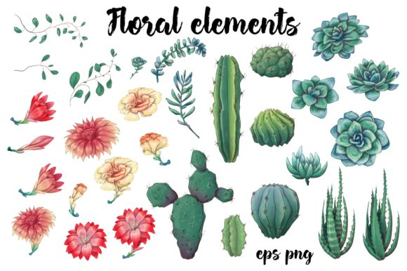 Succulents in Green Graphic By nicjulia Image 5