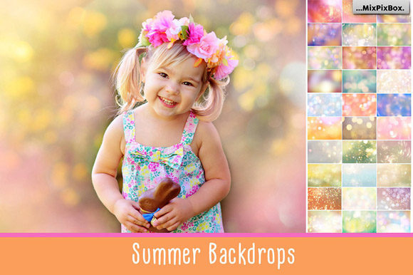 Print on Demand: Summer Backdops Graphic Layer Styles By MixPixBox