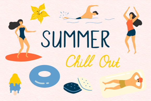 Summer Chill out Hand Drawn Summer Elements Graphic Illustrations By Kirill's Workshop
