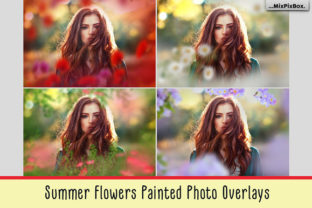 Summer Flowers Painted Overlays Graphic By MixPixBox