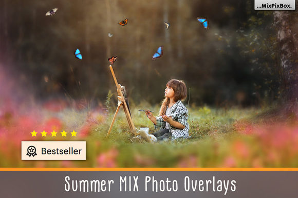 Print on Demand: Summer Overlays Mix Pack Graphic Layer Styles By MixPixBox