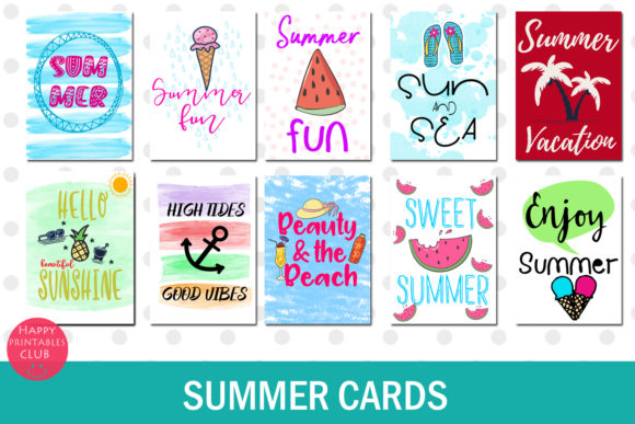 Print on Demand: Summer Text Overlays Graphic Illustrations By Happy Printables Club - Image 2
