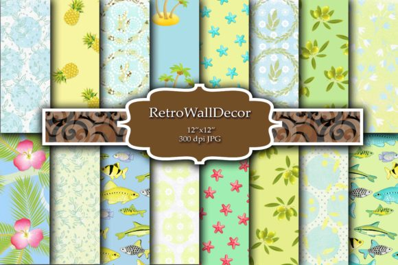 Print on Demand: Summer Paper Graphic Backgrounds By retrowalldecor