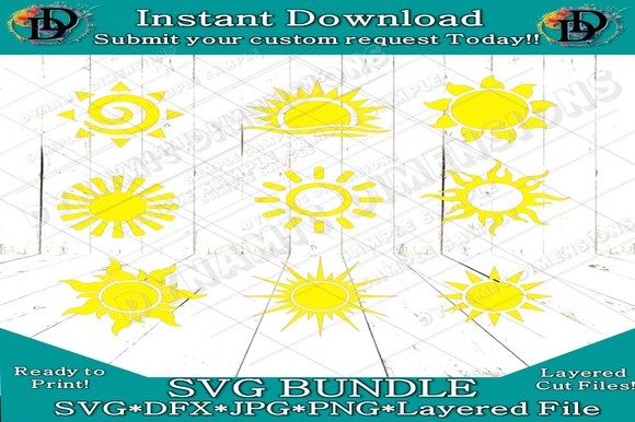 Download Free Sun Clipart Sunshine Graphic By Dynamicdimensions Creative Fabrica for Cricut Explore, Silhouette and other cutting machines.