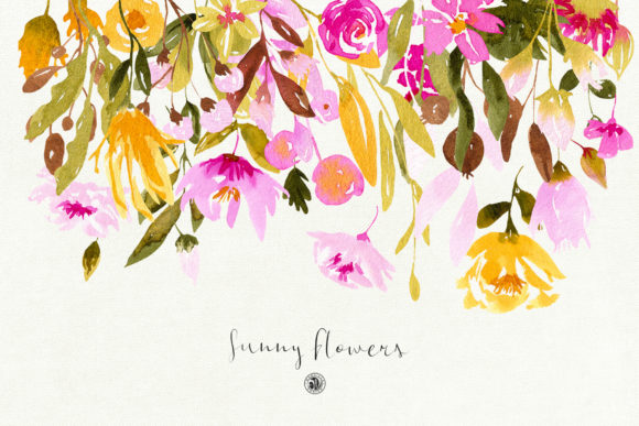 Sunny Flowers Graphic Illustrations By webvilla - Image 2