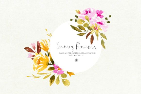 Sunny Flowers Graphic Illustrations By webvilla - Image 4