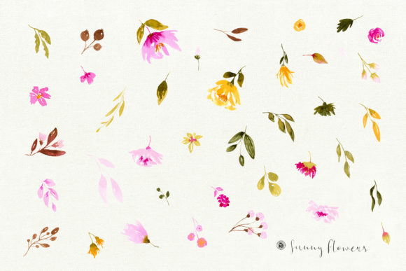 Sunny Flowers Graphic Illustrations By webvilla - Image 6