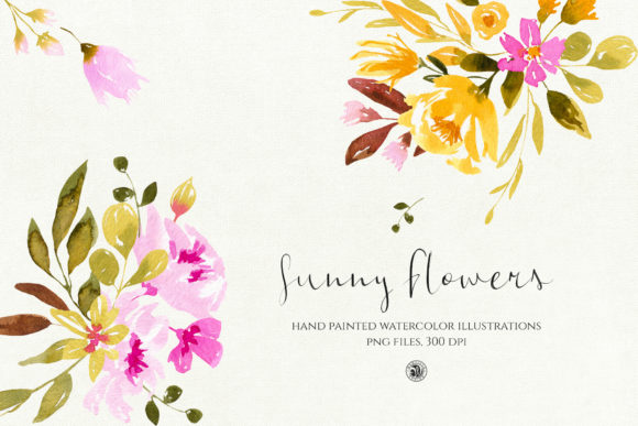 Sunny Flowers Graphic Illustrations By webvilla - Image 1