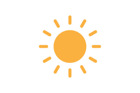 Print on Demand: Sunny Icon Graphic Icons By Kanggraphic