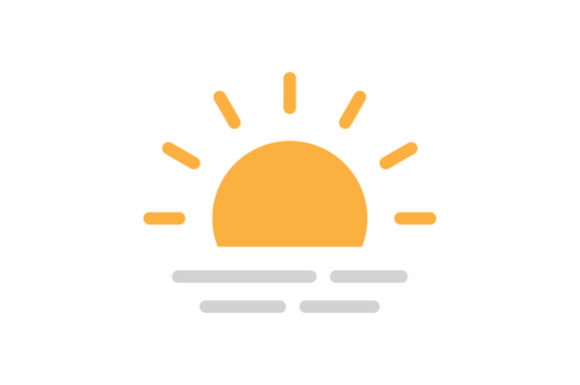 Download Free Sunset Icon Graphic By Kanggraphic Creative Fabrica for Cricut Explore, Silhouette and other cutting machines.