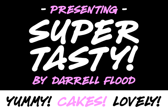 Print on Demand: Super Tasty Script & Handwritten Font By Dadiomouse