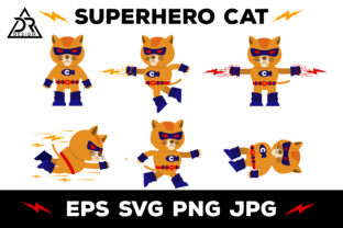 Download Free Superhero Cat Vector Clipart Graphic By Davidrockdesign for Cricut Explore, Silhouette and other cutting machines.