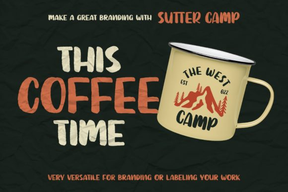 Print on Demand: Sutter Camp Display Font By Garisman Studio - Image 6