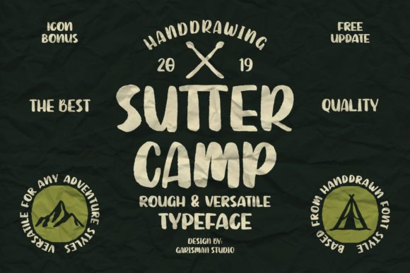 Print on Demand: Sutter Camp Display Font By Garisman Studio