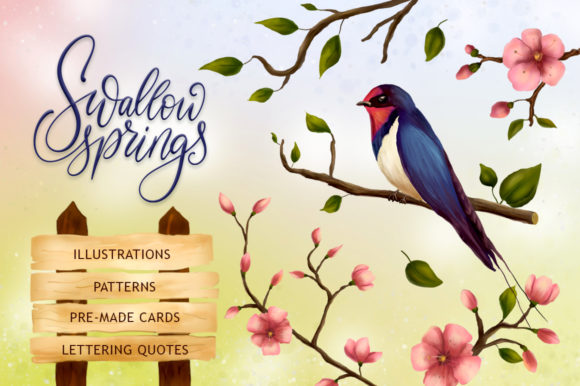 Swallow Springs Gentle Graphics Set Graphic By Red Ink Image 1
