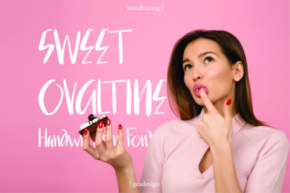 Print on Demand: Sweet Ovaltine Script & Handwritten Font By geadesign