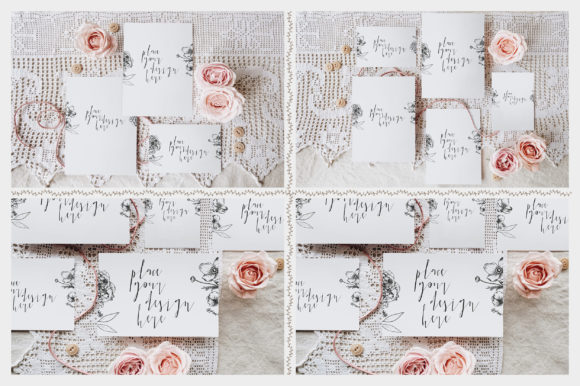 Print on Demand: Sweet Rustic Invitation Mockup Graphic Print Templates By Blue Robin Design Shop - Image 6