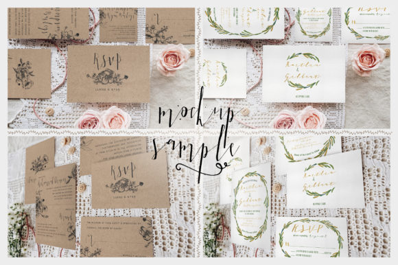 Print on Demand: Sweet Rustic Invitation Mockup Graphic Print Templates By Blue Robin Design Shop - Image 8