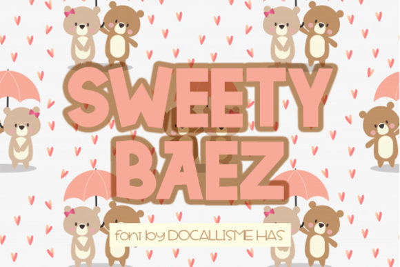 Print on Demand: Sweety Baez Sans Serif Font By Docallisme