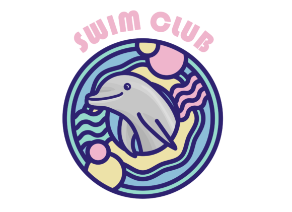 Print on Demand: Swim Club Icon Graphic Icons By Mine Eyes Design