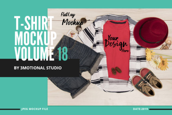Print on Demand: T-Shirt Mock Up Graphic Product Mockups By 3Motional - Image 1