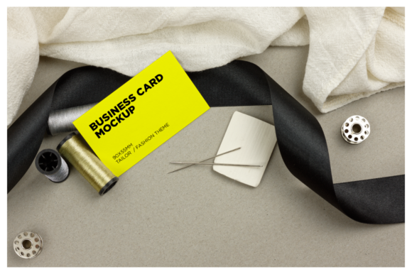 Tailor/Fashion Business Card Mockup Graphic Product Mockups By dumitrasconiu.design - Image 8