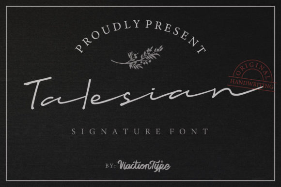 Print on Demand: Talesian Script & Handwritten Font By Viaction Type.Co