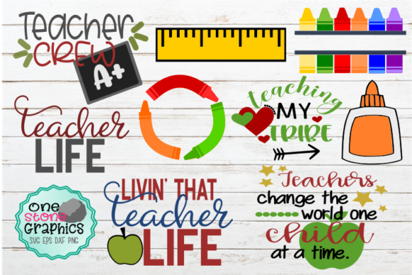 Teacher Bundle Grafik von OneStoneGraphics