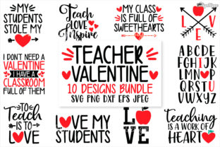 Teacher Valentine SVG Bundle Graphic By thedesignhippo
