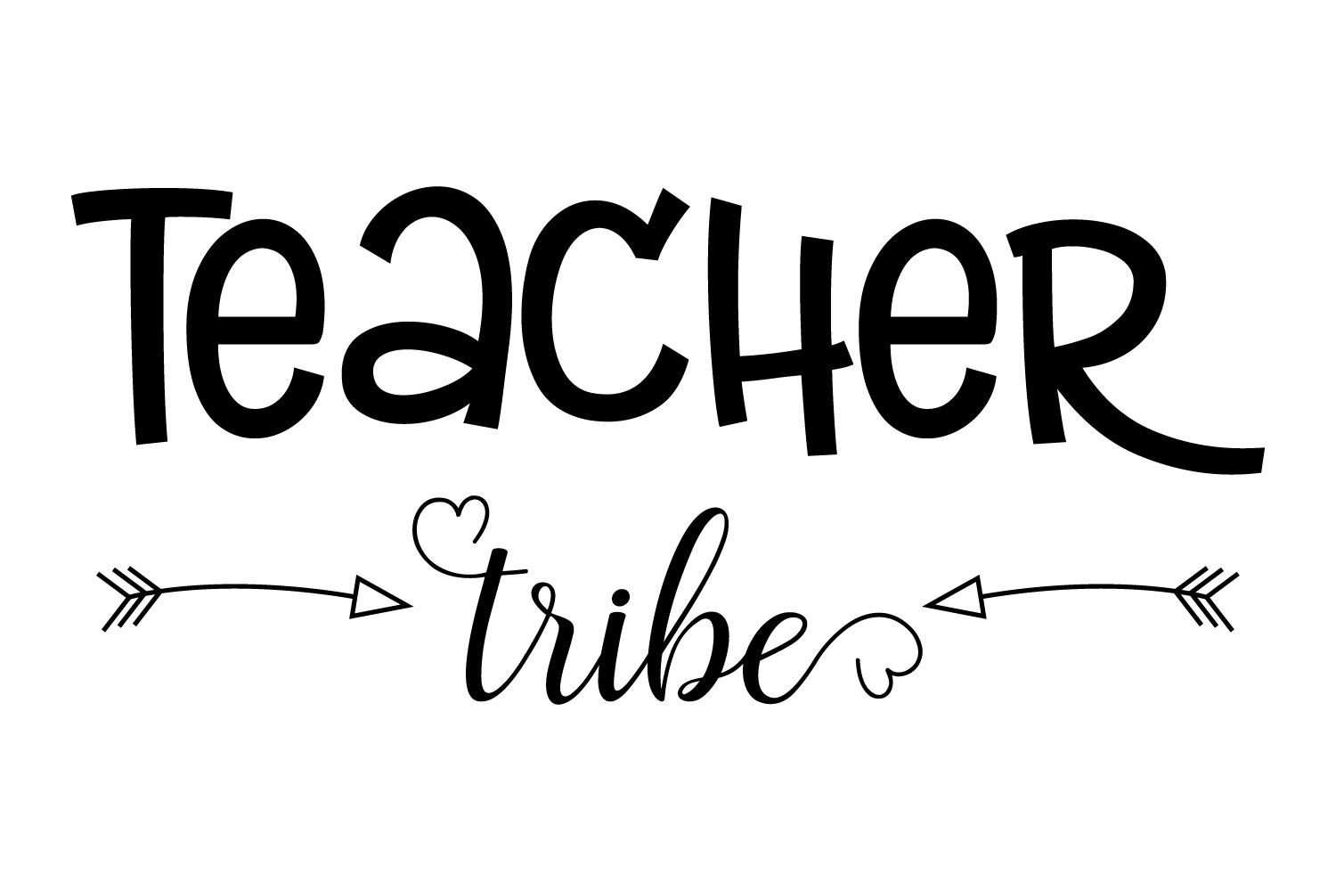 Download Free Teacher Tribe Graphic By Goran Stojanovic Creative Fabrica for Cricut Explore, Silhouette and other cutting machines.