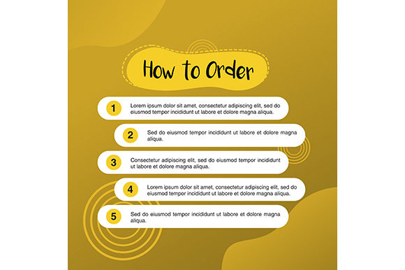 Template Illustration How to Order Graphic Websites By apple