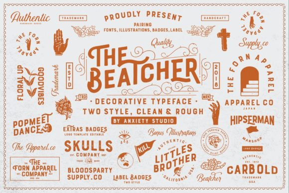 Print on Demand: The Beatcher Display Font By lickermelody - Image 2