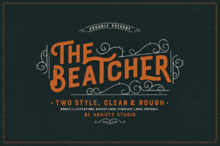 The Beatcher Font By lickermelody