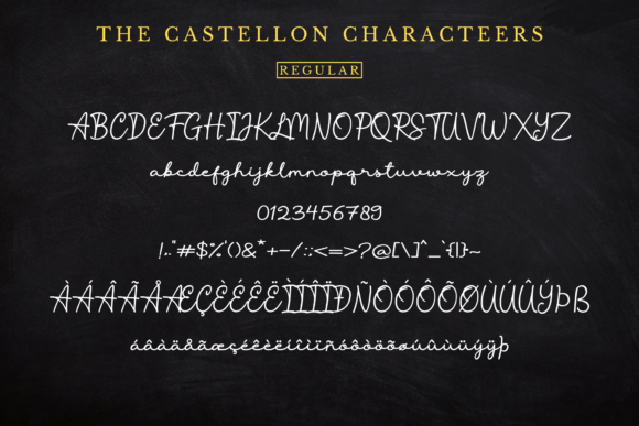 Print on Demand: The Castellon Script & Handwritten Font By Sibelumpagi Studio - Image 16