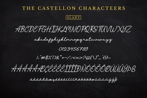 Print on Demand: The Castellon Script & Handwritten Font By Sibelumpagi Studio - Image 17