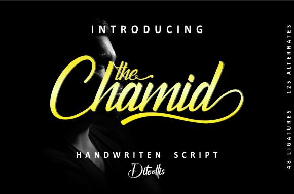 Print on Demand: The Chamid Script & Handwritten Font By Ditoollis Project