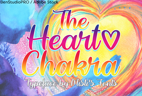 Print on Demand: The Heart Chakra Script & Handwritten Font By Misti