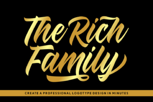 The Rich Family Font By Keithzo (7NTypes)