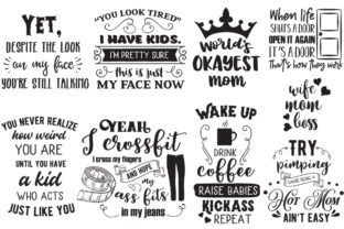 The Sarcastic Mom Bundle Graphic Crafts By Nerd Mama Cut Files 2