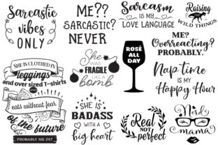 The Sarcastic Mom Bundle Graphic Crafts By Nerd Mama Cut Files 4