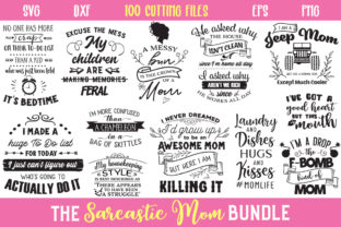 The Sarcastic Mom Bundle Graphic Crafts By Nerd Mama Cut Files