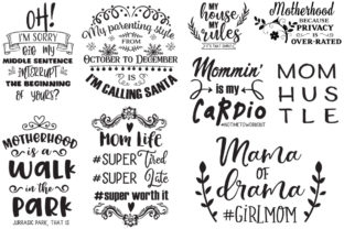 The Sarcastic Mom Bundle Graphic Crafts By Nerd Mama Cut Files 5