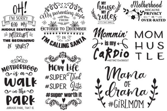 The Sarcastic Mom Bundle Graphic Crafts By Nerd Mama Cut Files - Image 5