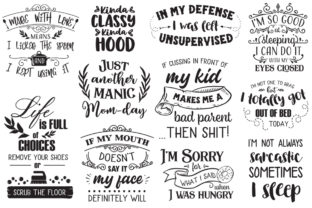 The Sarcastic Mom Bundle Graphic Crafts By Nerd Mama Cut Files 6