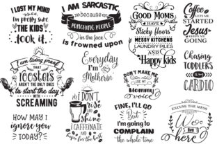 The Sarcastic Mom Bundle Graphic Crafts By Nerd Mama Cut Files 8